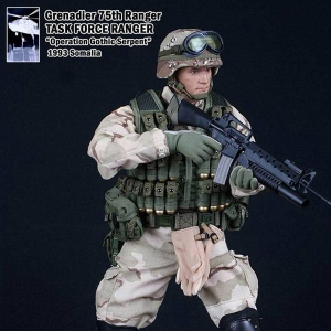 [30cm 밀리터리 피규어] Grenadier 75th Ranger TASK FORCE RANGER Operation Gothic Serpent SOMALIA 1993  [DAM 93002]