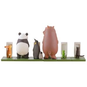 miniQ 사토 쿠니오의 동물들 Bathroom in groups2(1박스8개입)  [4537807022332]