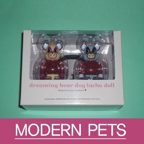[베어브릭] PSP Dreaming Bear Dog Lucha Doll (set) - 모던 펫츠 고유 캐릭터 -