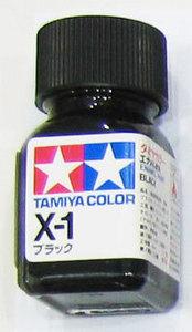 [타미야][에나멜도료 X-1] 블랙 (유광) [45135002]