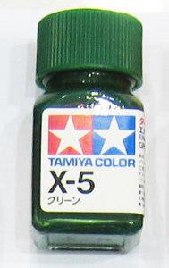 [타미야][에나멜도료 X-5]그린 (유광) [45135040]