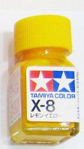 [타미야][에나멜도료 X-8] 레몬 옐로 (유광) [45135071]