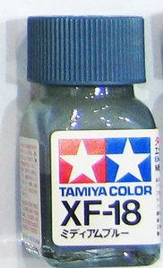 [타미야][에나멜도료 XF-18] 미디엄 블루 (무광) [45135491]