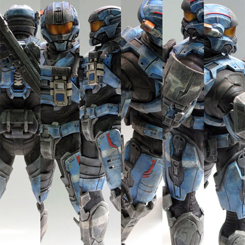 [12인치] (3A-threeA) 헤일로 피규어 (ashley wood- HALO COMMANDER CARTER SPARTAN-III)-파손부품 있음