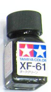 [타미야][에나멜도료 XF-61] 다크 그린 (무광) [45135729]