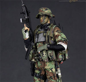 [입고완료] DAMTOYS-NAVY SEAL RIVERINE OPS RIFLEMAN (WOODLAND CAMOUFLAGER VER)(DAM 93015) ]