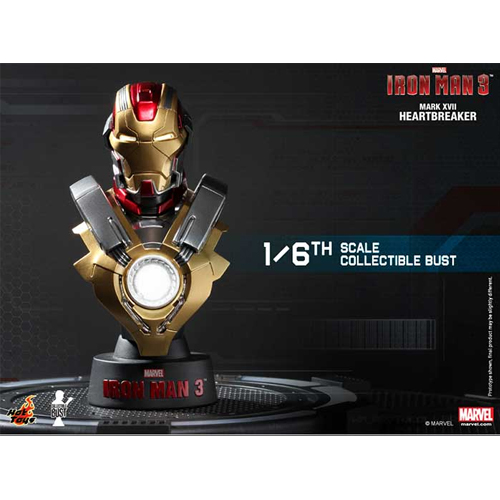 Iron Man 3: 1/6th scale Collectible Bust Series-아이언맨마크17 하트브레이커