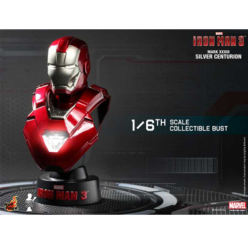 Iron Man 3: 1/6th scale Collectible Bust Series-아이언맨마크33 실버센츄리온