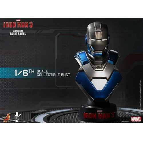 Iron Man 3: 1/6th scale Collectible Bust Series-아이언마크30 블루스틸