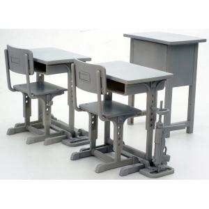 [리틀아모리][LD011] 지정방위 학교의 책상,그리스건 세트  [4543736282327]