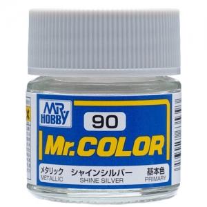 군제락카(병) No.90 Shine Silver 샤인 실버(10ml)-기본색(메탈릭)[4973028635393]