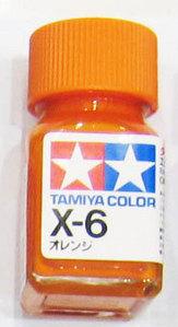 [타미야][에나멜도료 X-6] 오렌지 (유광) [45135057]