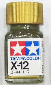 [타미야][에나멜도료 X-12] 골드 리프 (유광) [45135118]