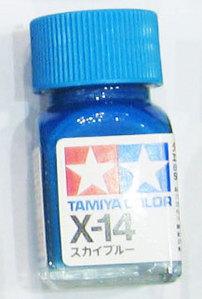 [타미야][에나멜도료 X-14] 스카이 블루 (유광) [45135132]