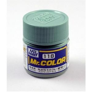 군제락카(병) No.118 RLM78 LIGHT BLUE 라이트 블루(10ml)-항공기(반광)[4973028635560]